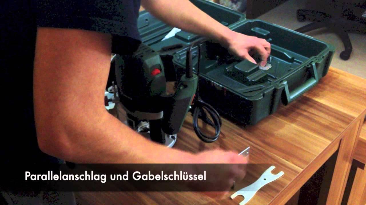 Bosch POF 1400 ACE Unboxing \