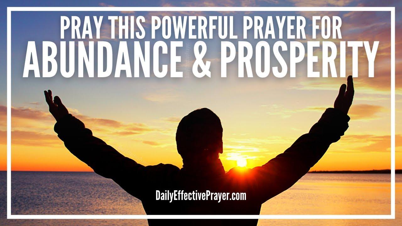 Prayer For Abundance and Prosperity | Most Powerful Abundance Prayers