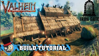 Valheim - How to Build a Viking Longhouse (starter base tutorial)