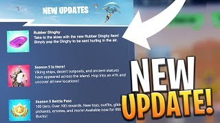 *NEW* LEAKED RUBBER DINGHY ITEM SEASON 5 UPDATE! - Fortnite: Battle Royale