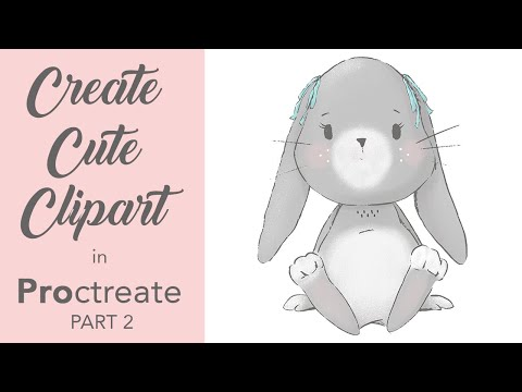 HOW I DRAW CLIPART ILLUSTRATIONS in PROCREATE on IPAD PRO To Sell in Creative Marketplaces - Part 2