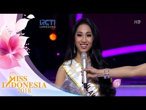 Miss Sulawesi Utara 'Top 5 Pertanyaan Juri'   Miss Indonesia 2018
