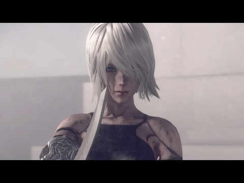 Nier Automata: A2 Boss Fight And True Ending (1080p 60fps) - Action Watch