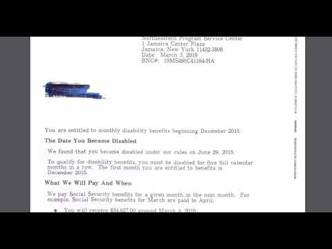 Disability Approval Letters And Payments 4 Things You Need To Know Youtube