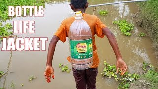 How to make life jacket using Plastic Bottle (Primitive Way)