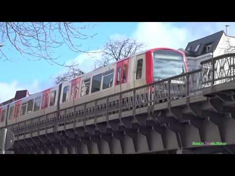 U-Bahn/Metro in Hamburg, Germany 2017
