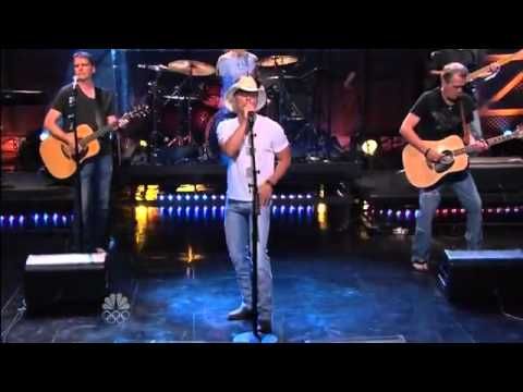 Kenny Chesney Come Over live The Tonight Show Jay Leno 7-12-12