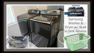 samsung active wash washer dryer review w rinse sink demo