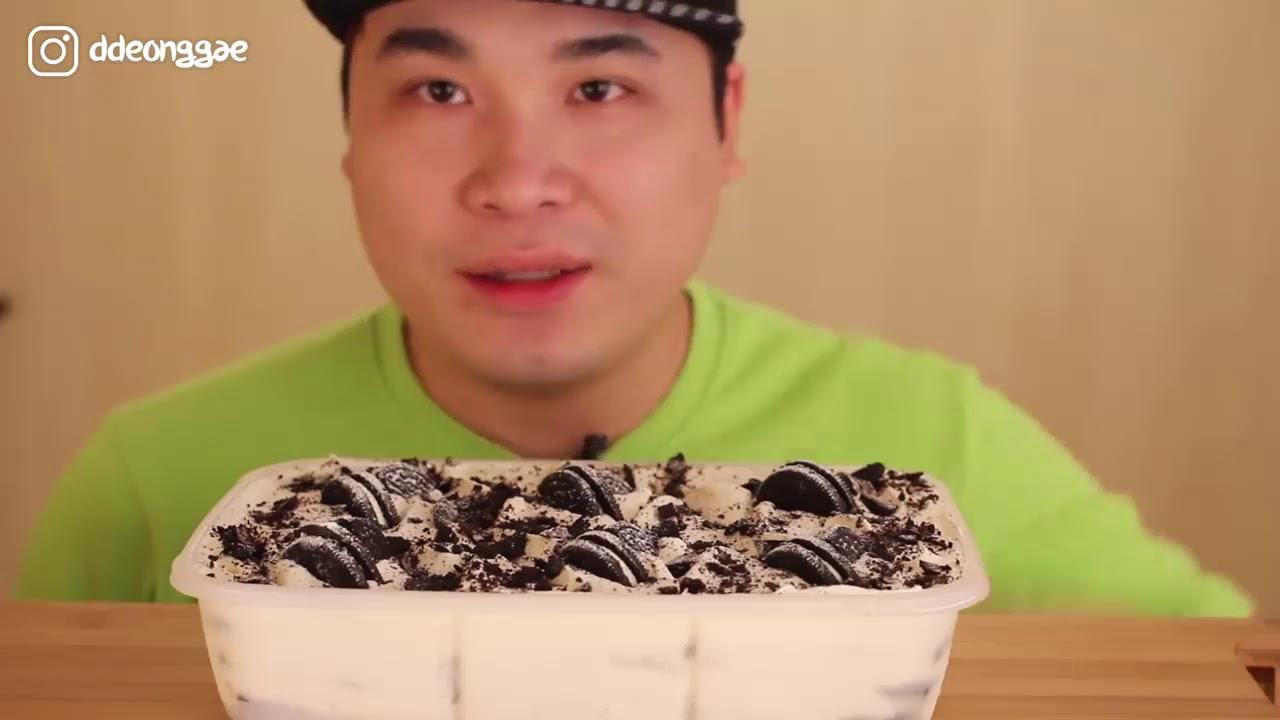 Thánh Ăn Hàn Quốc Ăn Kem Cùng Bánh Oreo~!!