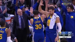 Stephen Curry Amazing Buzzer Beater! Warriors vs Spurs
