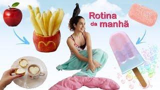 DIYs & DICAS P/ ROTINA DA MANHÃ: batata maçã, picolé sabão, exercícios físicos, cabelo cacheado e +