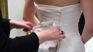 How to Lace and Tie a Wedding Dress by Lori G Bridal Derby