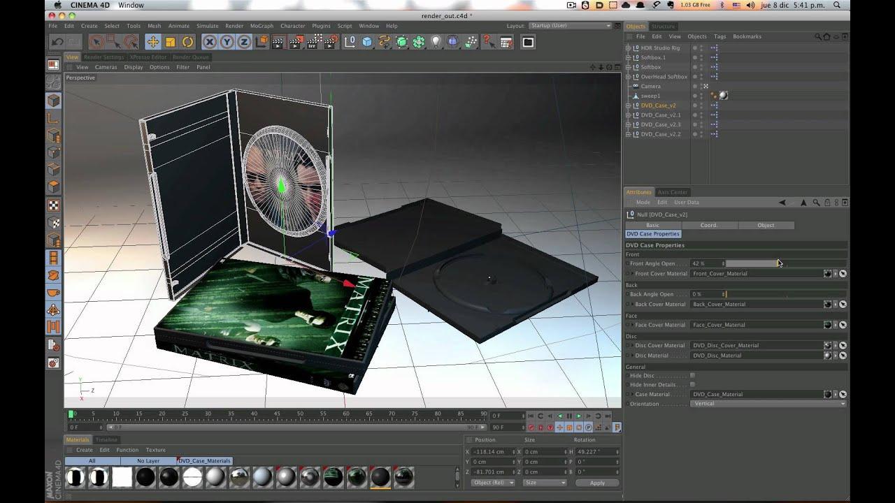 Dvd case 3d model cinema 4d : Apparitional film