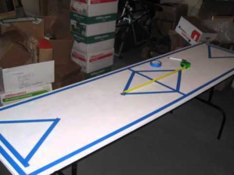 Simple beer pong table design youtube for Beer pong tisch eigenes design