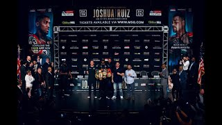 Anthony Joshua vs Andy Ruiz final press conference