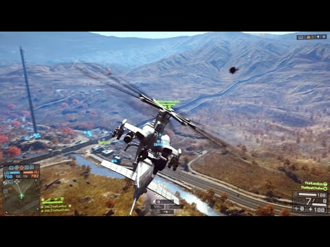 Battle for the Border | Battlefield 4 AH-1Z Viper Dual View Gameplay