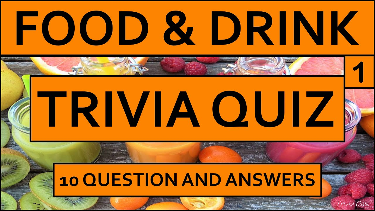 quiz questions drink answers trivia knowledge general choice multiple
