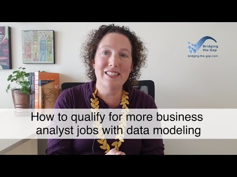How to qualify for more business analyst jobs with data modeling