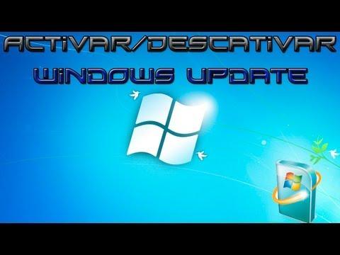 Como hablitar y deshabilitar windows update en windows 7.