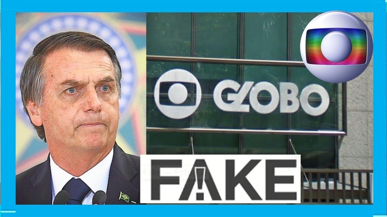 É FAKE  sobre Bolsonaro fechar REDE GLOBO por dívida milionária saiba a verdade