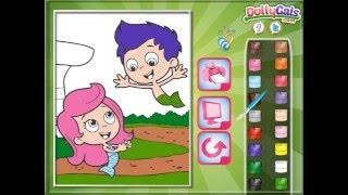 Мультик игра Гуппи и пузырьки раскраска (Bubble Guppies Online Coloring)