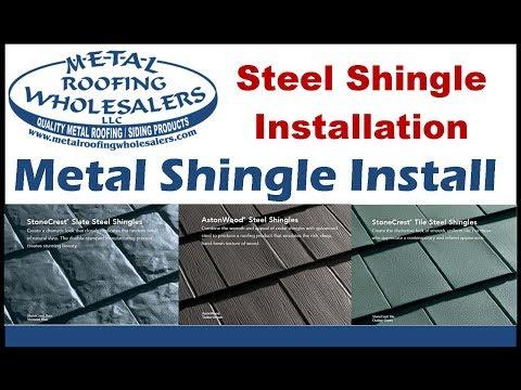Metal Shingle Install Metal Works  Tamko Slate Astonwood