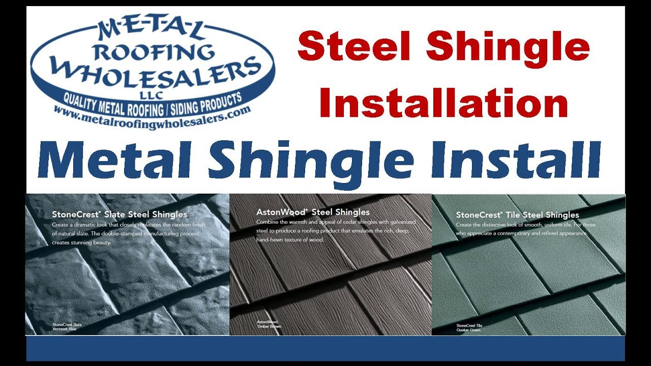 Metal Shingle Install Metal Works Tamko Slate Astonwood