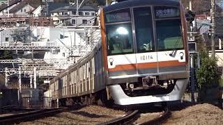東京メトロ10000系10114F菊名カーブ通過