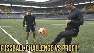 Heftige fussball challenge vs schweizer profi!!