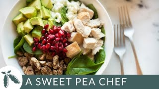 Left Over Turkey Salad with Cranberry Vinaigrette | A Sweet Pea Chef