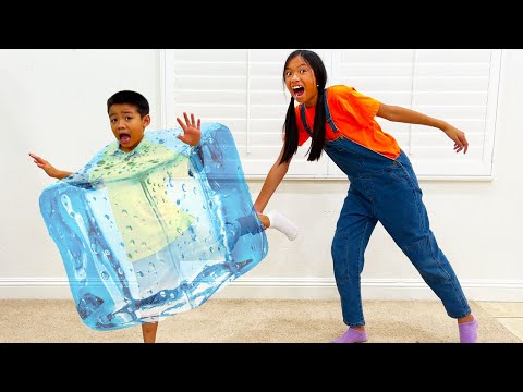 Wendy and Eric Play FREEZE TAG and Turns Into Ice| Tag You're It