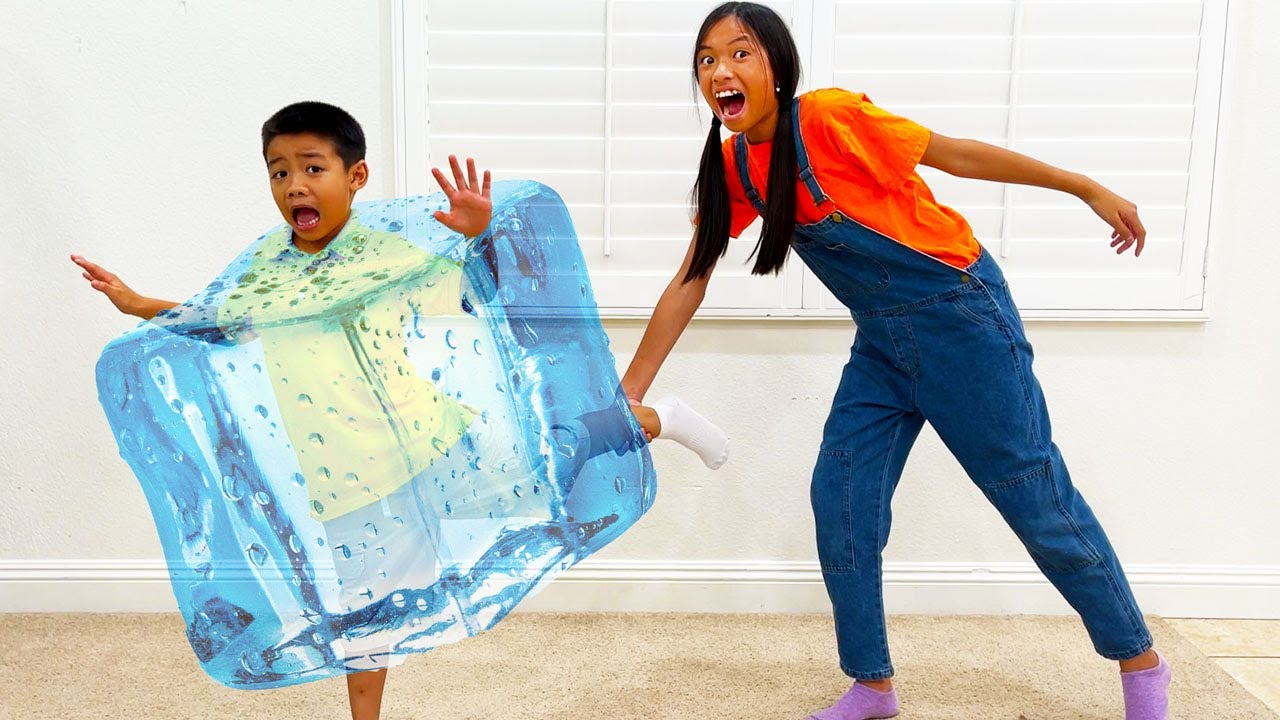 Download Wendy and Eric Play FREEZE TAG and Turns Into Ice  Tag You're It