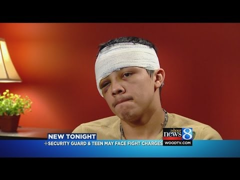 Teen hurt in fight with ER security guard