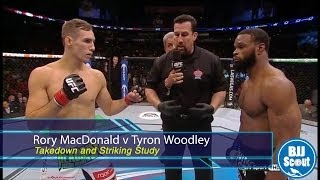 BJJ Scout: Rory MacDonald v Tyron Woodley Post-Fight Study - Takedowns and Striking