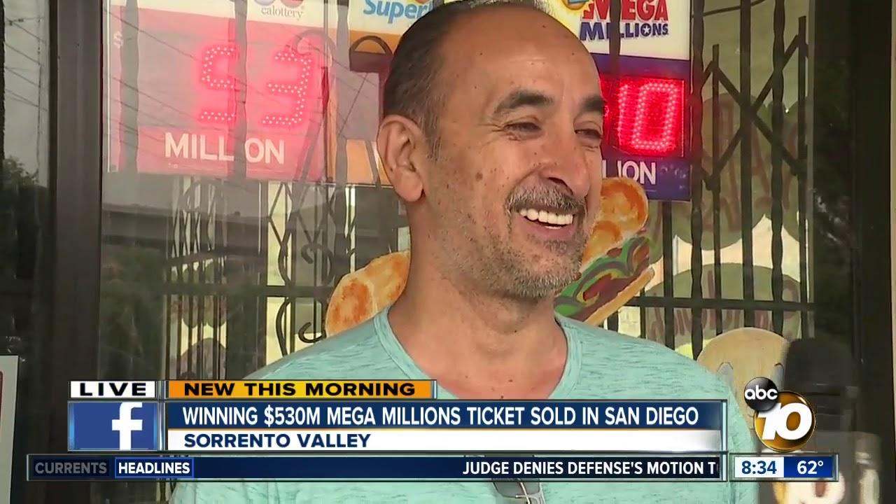 Winning 530m Mega Millions Ticket Sold In San Diego Youtube