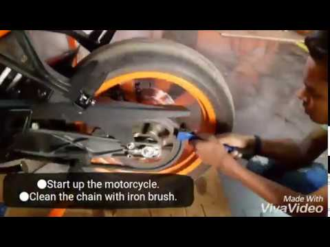 KTM RC390 - Easy Steps to Clean Chain