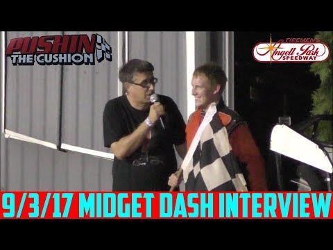 Angell Park Speedway - 9/3/17 - Midgets - Dash Interview