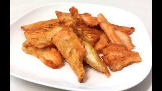 香煎三文魚骨腩 / 新買的斜板式抽油煙機 / 清洗方便 Pan fried salmon bones 【20無限】