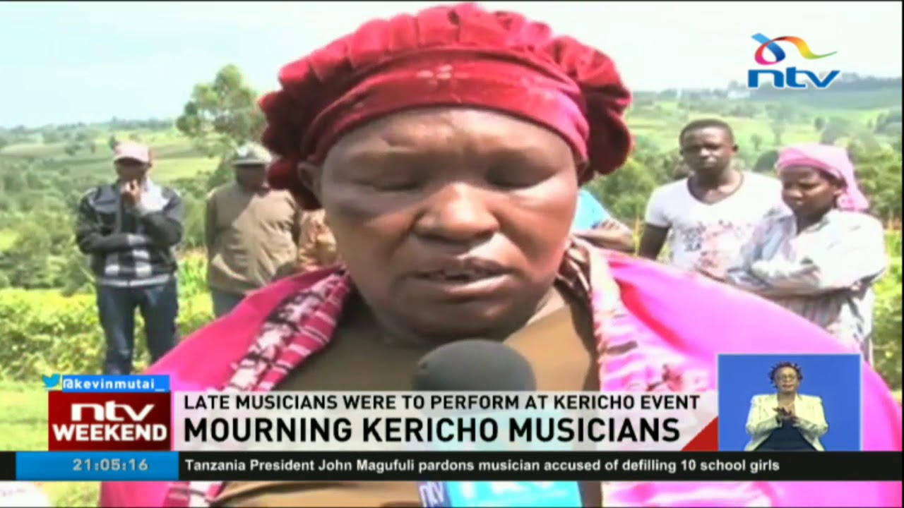 Mourning 7 Kericho musicians meant to perform at the Mega Kalenjin Night
