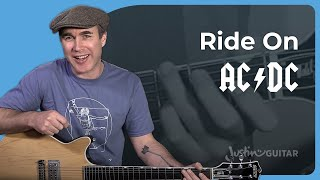 AC/DC - Ride On Guitar Lesson Tutorial - Chords Strumming Malcolm Angus