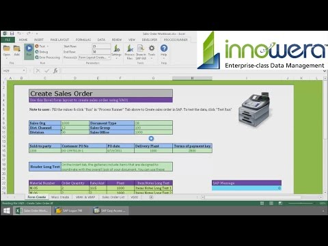 Sales and Distribution (SD) Module - Run SAP From Excel