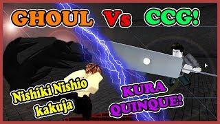[NishK1!] Ro-Ghoul - EPIC BATTLE! Nishiki Nishio Kakuja Vs KURA QUINQUE | Roblox