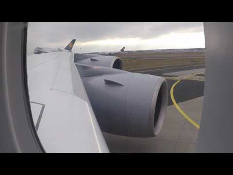 Lufthansa A380 Landing in Frankfurt (FRA) ex Los Angeles (LAX)