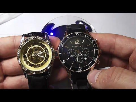 Посылка 705 - 708 aliexpress.com Часы наручные ЖЕНСКИЕ WINNER механические скелетоны