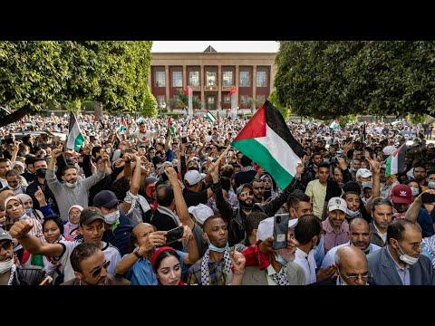 تواصل المظاهرات في عدة مدن حول العالم لدعم الفلسطينيين والمطالبة بوقف الغارات الإسرائيلية  - نشر قبل 3 ساعة