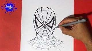 Como dibujar al hombre araña - How to draw spiderman