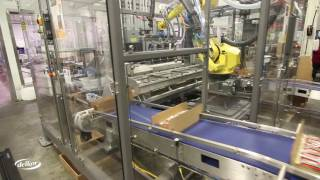 Delkor C Series Robotic Loader loading cheese at Cabot Creamery Co-operative