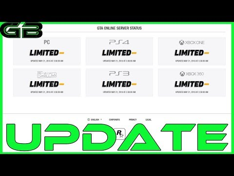 GTA Online: Servers Update (May 21, 2018)