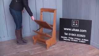 Superb Solid Oak Arts & Crafts Folding Church & Chapel Chairs with Kneelers - UKAA(, 2015-08-30T13:23:30.000Z)