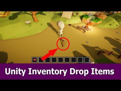 Unity Inventory Tutorial : Drop Items : Unity3D